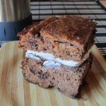 Gluten free banana bread with cream cheese