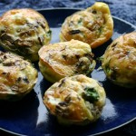 Cheesy Egg Muffins with Mushroom, Courgette, & Spinach