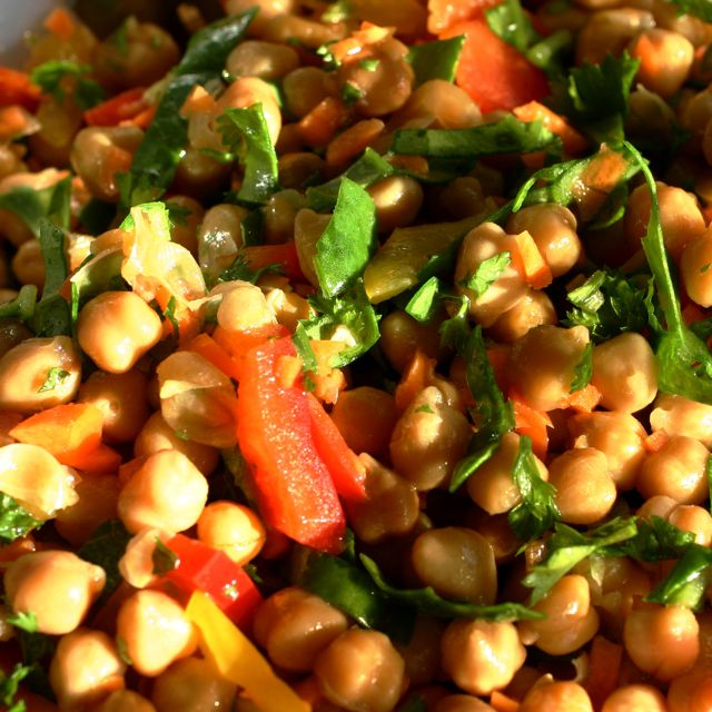 Marinated Chickpea Salad • The Healthy Eating Site