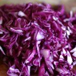 Finely sliced red cabbage